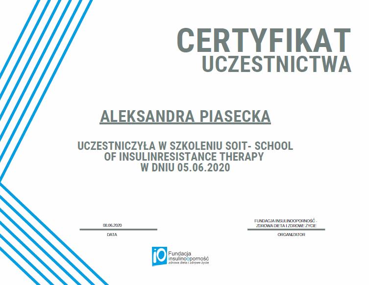 Szkolenie dla specjalistów SOIT (certyfikat)